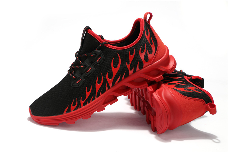 Athletic Trainers Running Shoes Mens Sneakers 2018 Black Red Men Gym Trainer Sport Shoes Breathable Walking Jogging Sneakers Men