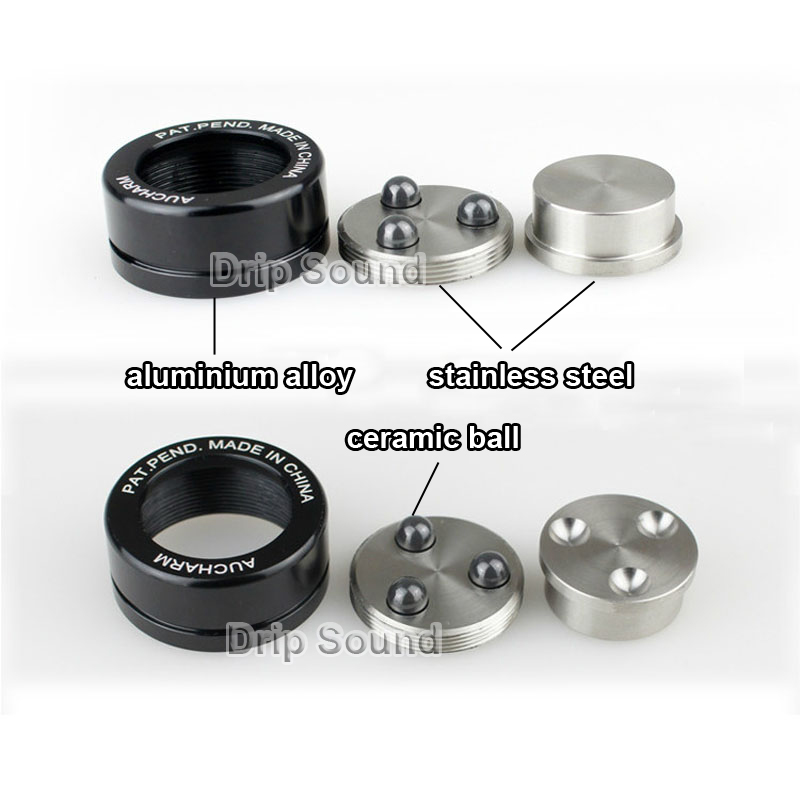 "39mm 1.54/"" Stainless Graphite speaker Isolation Feet 3 pcs Pads 3 pcs spikes"
