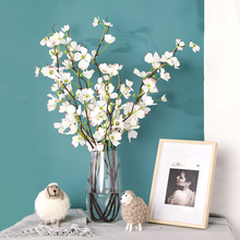 1pc Dogwood Flower Long Branch Artificial Flowers for Home Decoration Orchid Medlar Flowers flores artificiales para decoracion