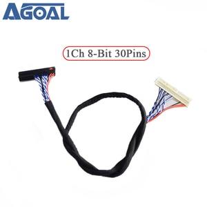 Image 1 - 400 мм кабель низковольтной дифференциальной передачи сигналов FIX 30P D8 1ch 8 30 контакты 30pin один 8 линий для 26 47 дюймов Большой экран Сенсорная панель 2 модели Бесплатная доставка