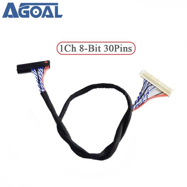 400 мм кабель низковольтной дифференциальной передачи сигналов FIX 30P D8 1ch 8 30 контакты 30pin один 8 линий для 26 47 дюймов Большой экран Сенсорная панель 2 модели Бесплатная доставка