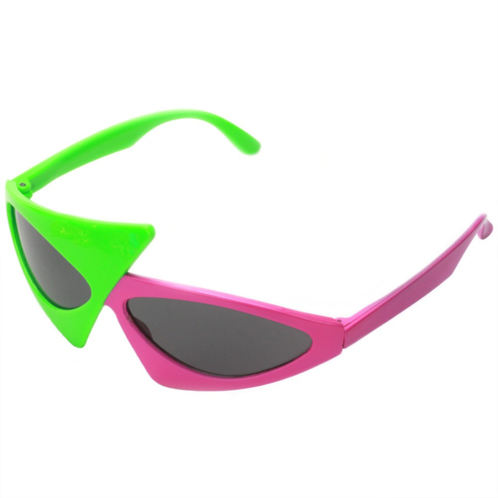 e1720a2dee Novelty Green Pink Contrast Color Glasses Roy Purdy Style Hip Hop  Asymmetric Triangular Sunglasses Party Supplies Decoration-in Party Masks  from Home ...