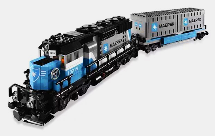 LEPIN21006 1234pcs Technic Series The Maersk Train Model Building Block Diy Brick Educational Toy For children Gift 10219 loz mini diamond block world famous architecture financial center swfc shangha china city nanoblock model brick educational toys