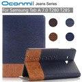 Высокое качество Джинсы Бумажник кожаный чехол для Samsung Galaxy Tab 7.0 дюймов новый чехол для SM-T280 SM-T285 крышку планшета рукава