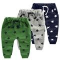 Горячие продажи конфет Размер90 ~ 140 детей брюки для мальчиков брюки девочек одежда звезда моды голубые серые зеленые дети повседневная брюки