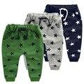 Venda quente dos doces Size90 ~ 140 crianças calças para meninos calças meninas roupas estrela da moda azul verde cinza crianças casuais calças