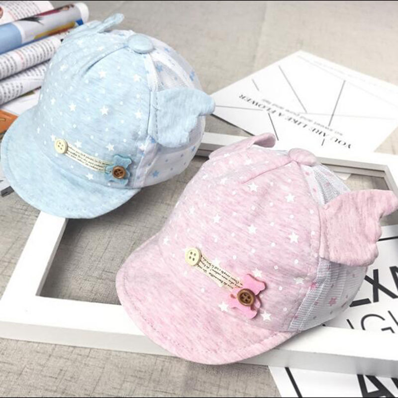 Baby Cap for Boys Girls Cute Cat Style Kids Children Hat Cotton Snapback Baseball Caps Spring Autumn Infant Toddler Casquette 2016 fashion kids cartoon snapback caps flat brim child baseball cap embroidery cotton cap baby boys girls peaked cap