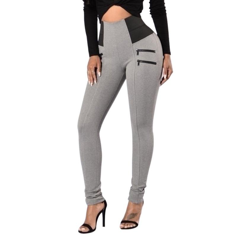 New Fashion Slim Trousers Women High Waist Stretch Leggings Bodybuilding Workout Elastic Women Leggings Female Pants