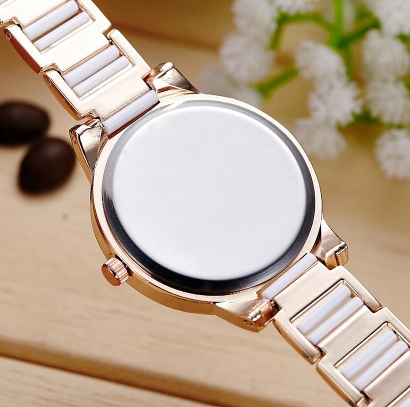 SBAO merk luxe damesmode quartz horloge imitatie keramische armband - Dameshorloges - Foto 3