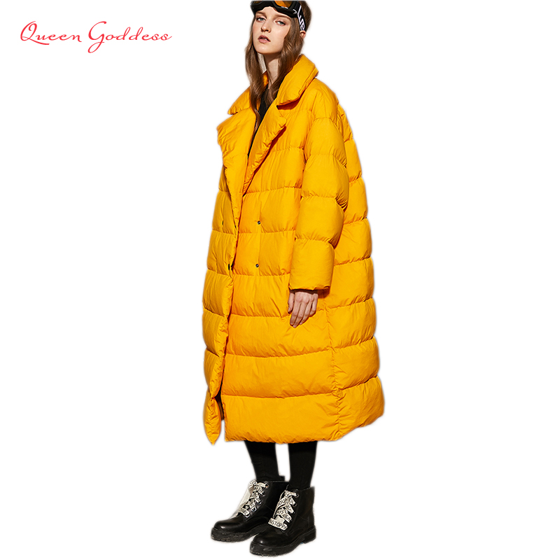 New Listing Winter Women 90 White Duck Down Jacket Simple&thicken Warm Parkas With Hooded Loose& Plus Size 7XL Outwear