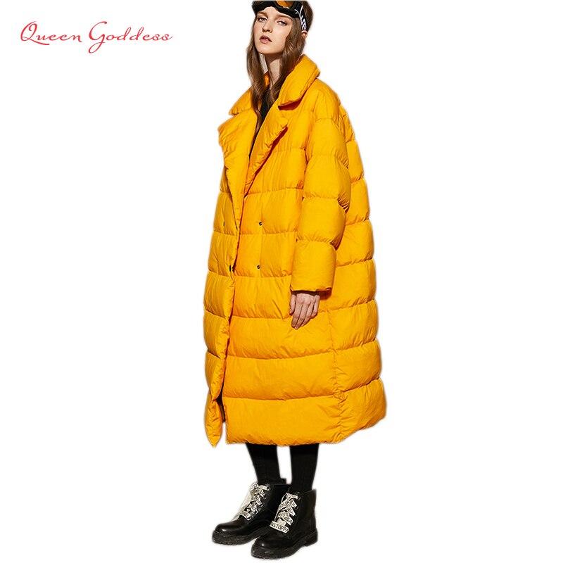 Nuevo anuncio invierno mujeres 90 pato blanco abajo chaqueta simple y espesar caliente parkas con capucha floja y más tamaño 7XL outwear