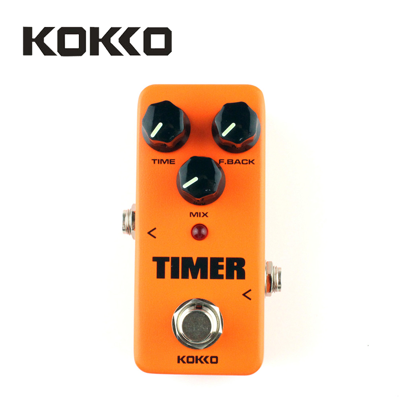 KOKKO FDD2 Timer Orange Pure Analog Delay Guitar Effect Pedal Device With Gold Straight Pedal Connectors