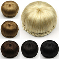 6 Colors Synthetic Hair Chignon Perruque Queen Braiding Hair Bun 11cm Donut Roller Brown/Blond/black Cabelo Free Shipping