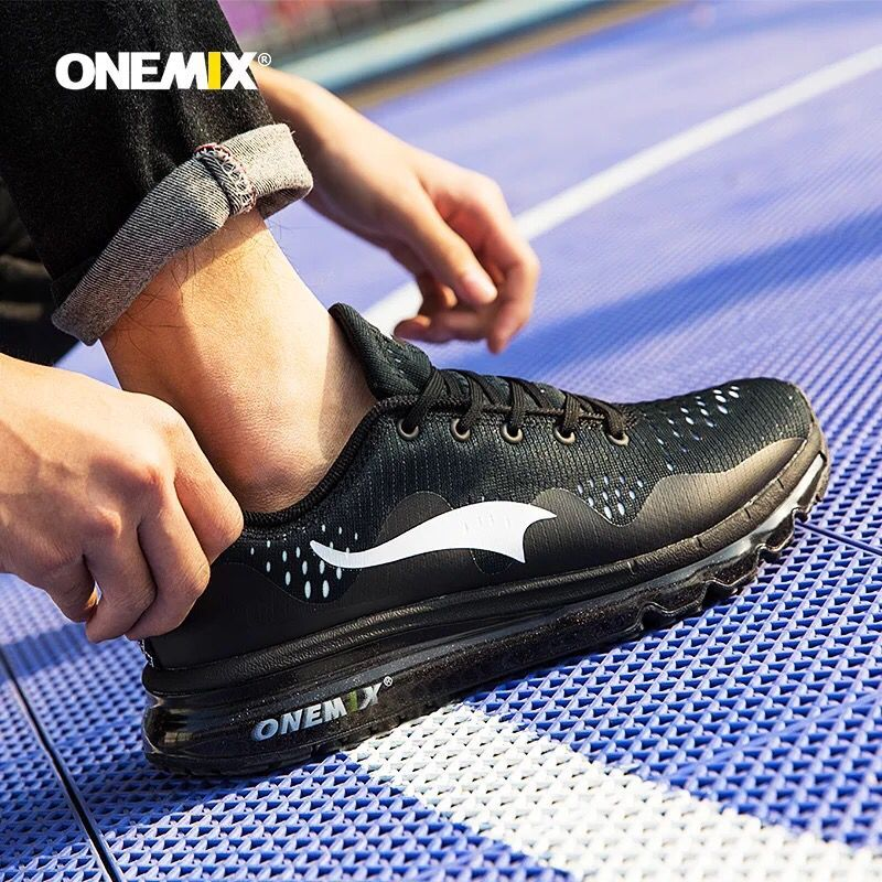 New onemix Air Men s Sports Running Shoes cushioning breathable Massage Sneakers for men sport shoes