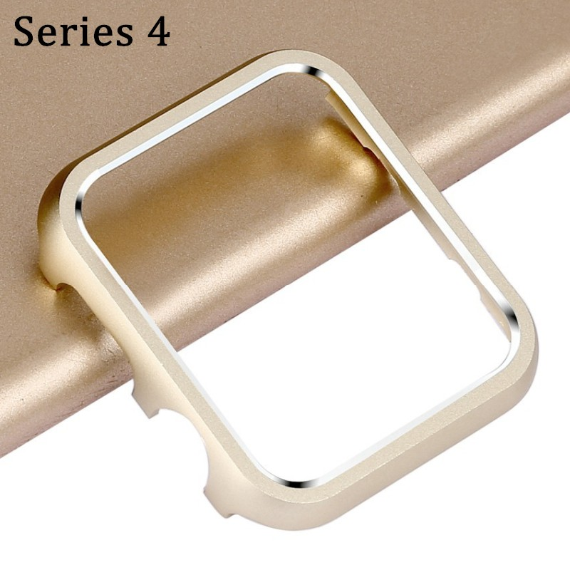 Case Cover For Apple Watch 40mm 44mm Series 4 Frame Metal Alloy Protective Aluminum Protector Shell WatchBand Accessories protective aluminum alloy bumper frame case for iphone 6 4 7 light blue
