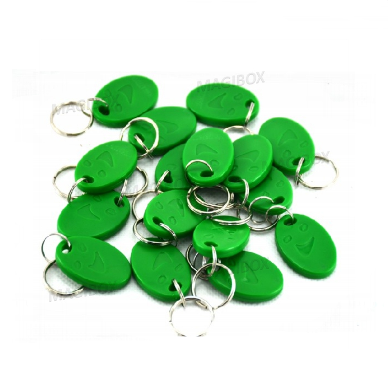 100pcs/lot 125KHz RFID Smile Green Proximity ID Cards Token Tag Key Keyfobs for door access control