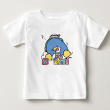 Летняя футболка с короткими рукавами для мальчиков и девочек
