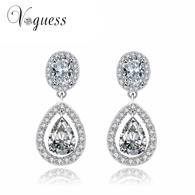 cheap earrings for aliexpress buy voguess brilliant cut cubic 5895
