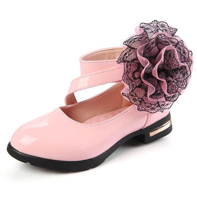 Rojo Negro Rosa Flor de Charol Zapatos de Vestir Planos Del Partido ...