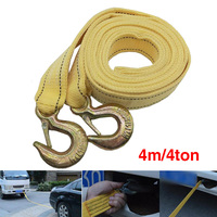 4Ton 4m Car Towing Rope Tow Cable Strap Towing Pull Rope with Hooks for Heavy Duty Car Emergency car tow rope