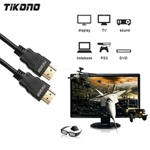лучшая цена Tikono HDMI Cable Male to Male Cable HDMI HD 1080P High speed Gold Plated Plug Cable for PS3 Projector LCD TV Computer