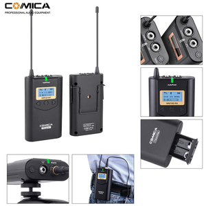 Image 4 - Comica CVM WM100 UHF 48 ערוצים אלחוטי Lavalier דש מיקרופון מערכת עבור Canon Nikon Sony DSLR מצלמות/טלפונים חכמים וכו .