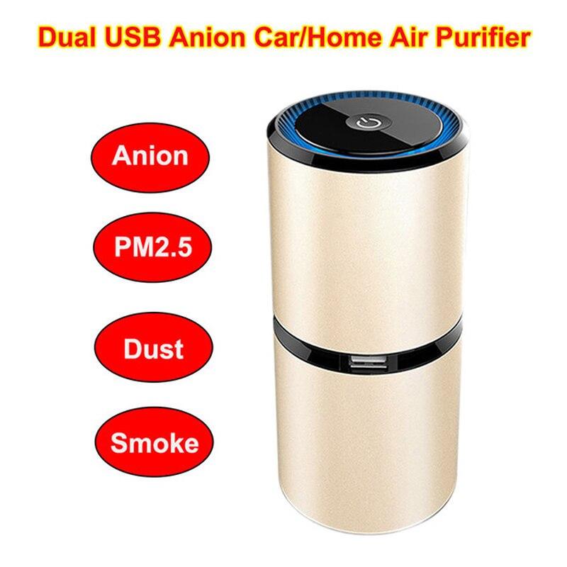 Car Air Purifiers Bar Ozone Ionizer Air Cleaner Purifier Smoke Ozone Anion Ionic Car Room OfficeAnion