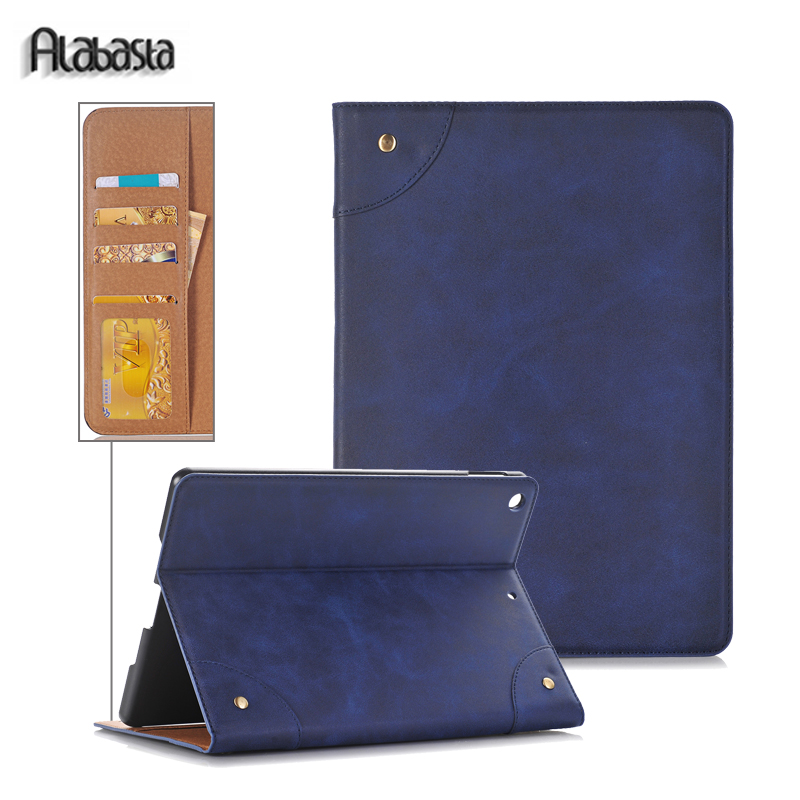 Alabasta For Apple iPad Pro 12.9 2016 2017 Cover Case Wallet card pocket PU Leather Protect case for ipad air1 alabasta pu leather