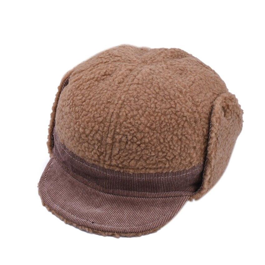 Fashion Warm Winter Baby Hat Caps For Kids Girls Bomber Hats Soft Brim Boys Children Earmuffs Cap Ears Flaps Bonnet 2018 M7120
