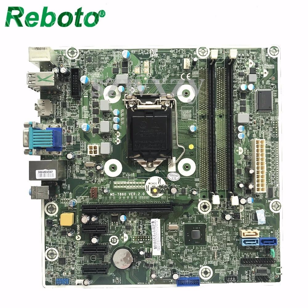Reboto MS 7860 Desktop Motherboard Mainboard For HP 786170 001 785906 001 System Board LGA1150 H81