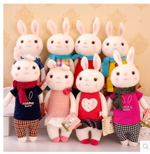 2015 new 35cm Lovely Stuffed Cloth Doll Plush Toy  Rabbit Doll For Christmas Girl Free shipping  женская рубашка big pink cloth doll d15ats007 2015