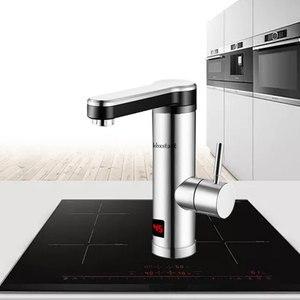 Image 4 - 220V Máy Nước Nóng Cho Nhà Bếp Phòng Tắm Ngay Tankless Làm Nóng Tập Máy Nước Nóng Vòi Nước Nóng Nhanh Có Đèn Led