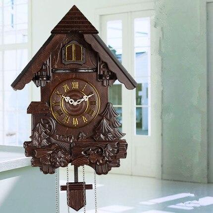 Настенные часы с птицей Cuckoo, креативные маятниковые модные часы для гостиной, немые настенные часы, подарки для детской комнаты