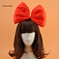 Super Big Bowknot Hairband For GIrls Red Black Bow Metail Head Band Ladies Wedding Party Satin
