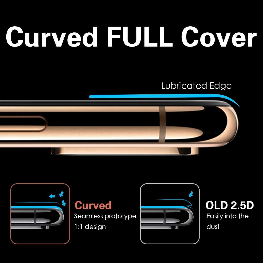 99d vidro temperado para iphone 11 pro max x xs xr 8 7 6 s mais curvo protetor de tela película de vidro protetora para iphone xs max