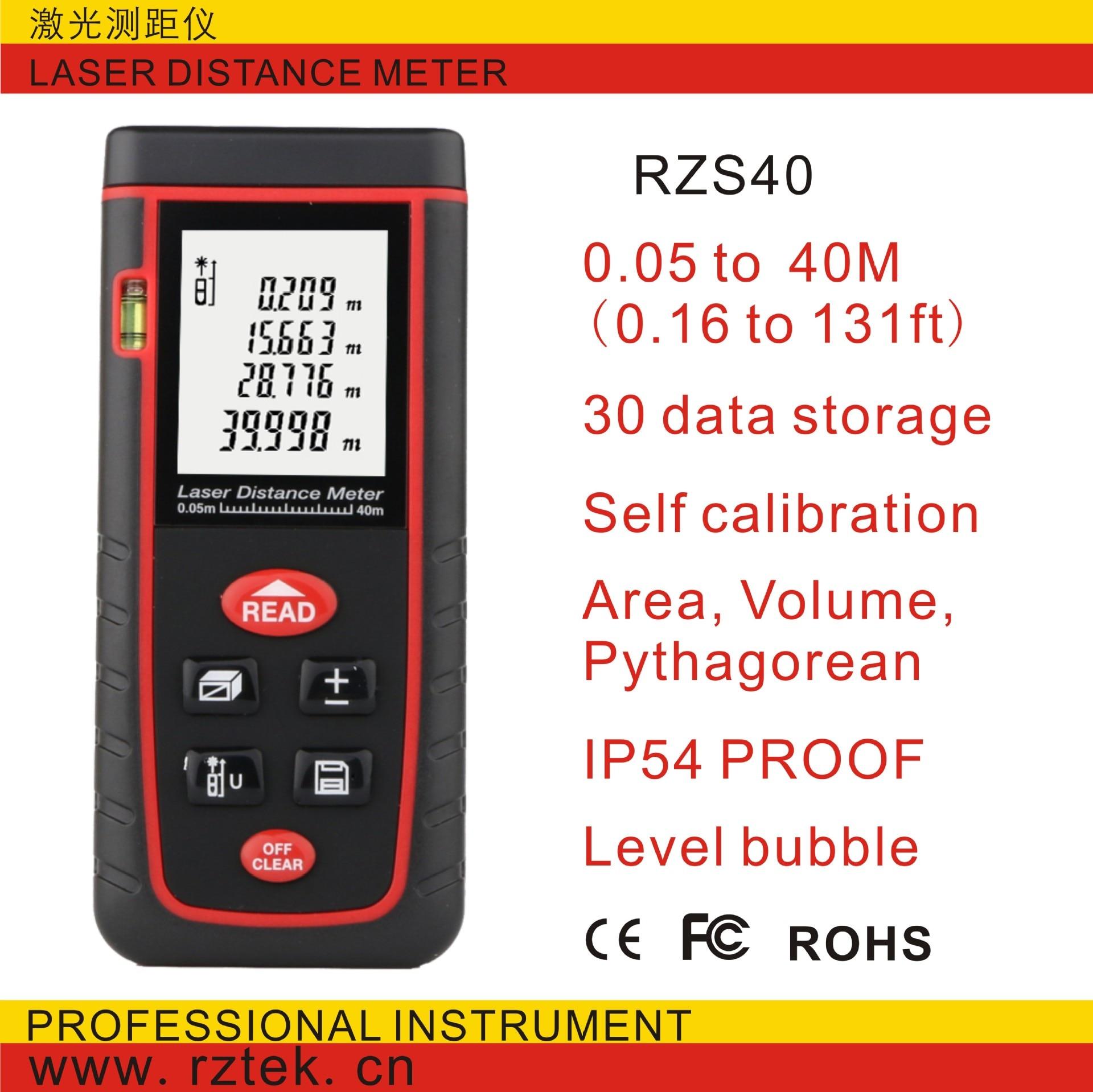 Digital laser distance Meter trena laser Tape measure Diastimeter tester tool 100M-80M-60M-40M Laser Rangefinder RZS40  цены