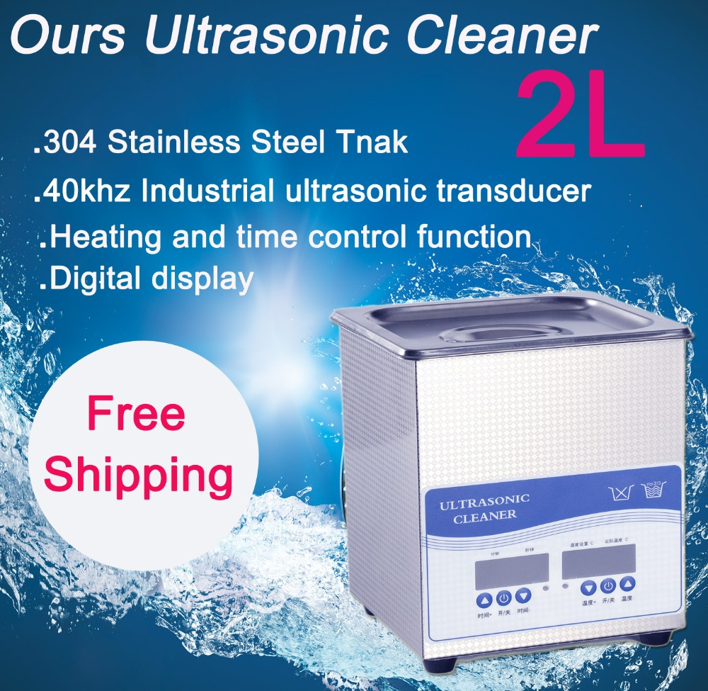 2L 60W Digital Ultrasonic Cleaner,110V and 220V 40khz Free Shipping price includes cleaning basket free shipping kylin bell ultrasonic cleaner serise please contact me for the price