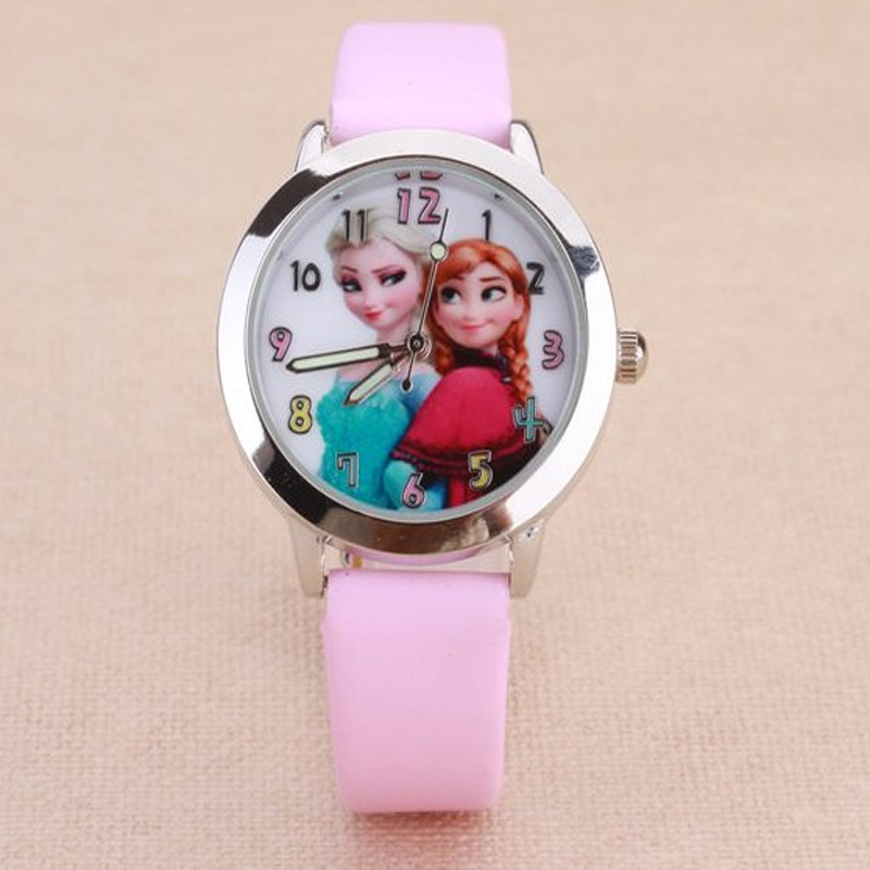 2018 Fashion Cartoon Watch Princess Elsa Anna Children Watches Kids Student Digital Cute Sport Wristwatch