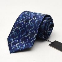 2017 New Men S Business Suit Blue Geometric Pattern Necktie 9cm Plus Size Hotel Unit Group