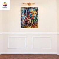 Sıcak Satış Ev Dekoratif Çiçek Vazo Gül Şarap Duvar Oturma Odası Için Resim Tuval Yağlıboya Suluboya Çiçek Baskı Neşeli