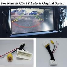 Обратная камера соединительный кабель для Renault Clio IV Lutecia задний резервный парковочная камера RCA Оригинальный дисплей совместимый