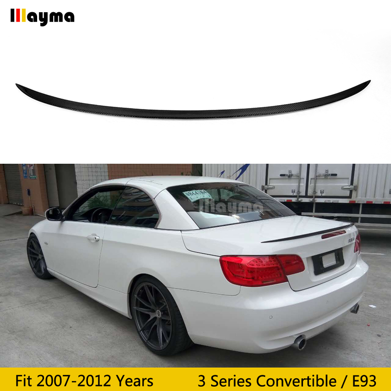 Fit For BMW 07~13 E93 3 Series Convertible Carbon Fiber Rear Trunk Lip Spoiler