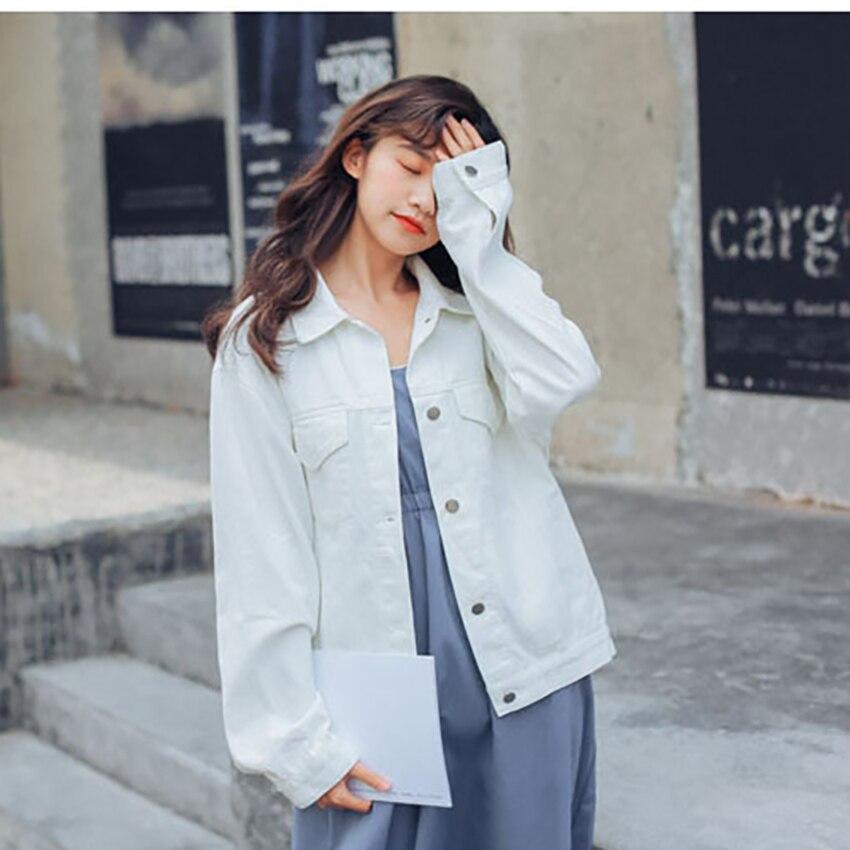 2018 New Jeans Jackets Women Harajuku Jaqueta Jeans Autumn Basic Jackets Denim Jacket Vintage Coat Women Solid Chaqueta Mujer