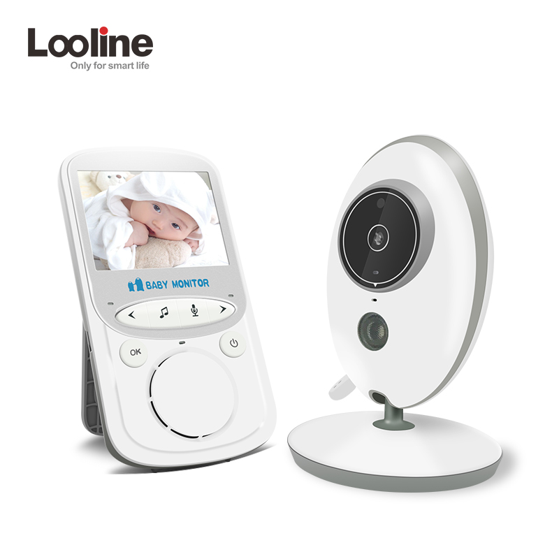 Baby Monitor Looline 2.4 Inch Wireless Baby Nanny Security Camera Baby Radio Baby sitter 2 Way Talk with Temperature Monitoring help your baby talk