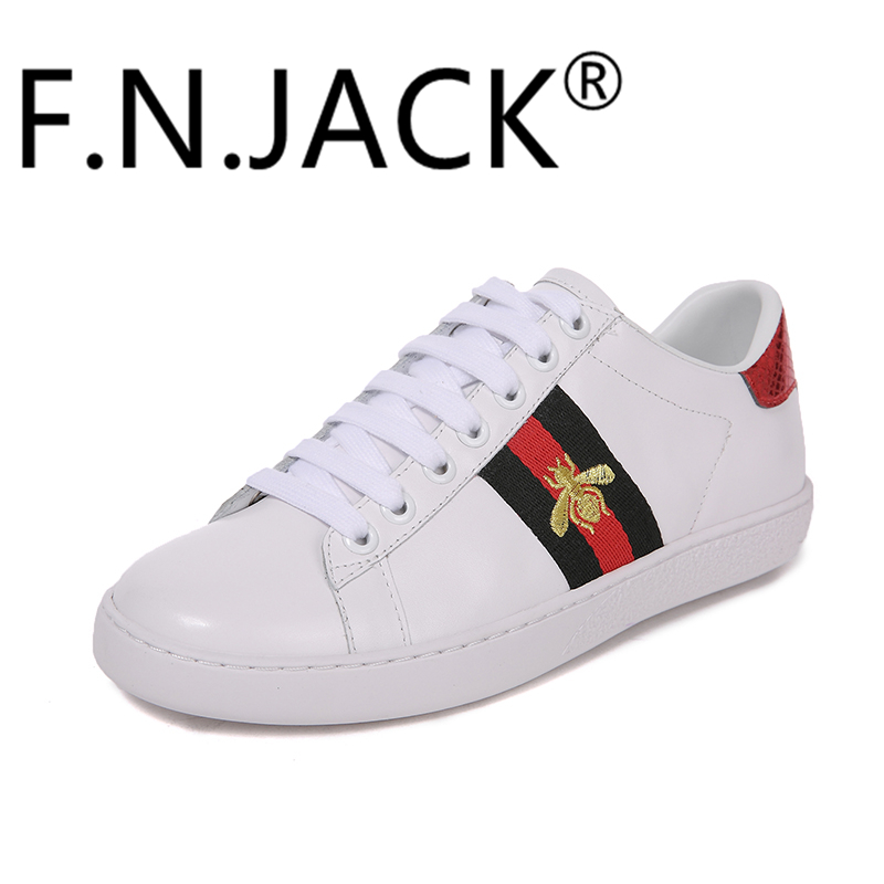 F.N.JACK Girls Trend Sneakers Brand 2018 Spring Summer time Informal Coach leather-based ladies sneakers, vogue ladies sneakers, ladies vogue sneakers,Low cost leather-based ladies sneakers,Excessive High quality vogue ladies sneakers,...