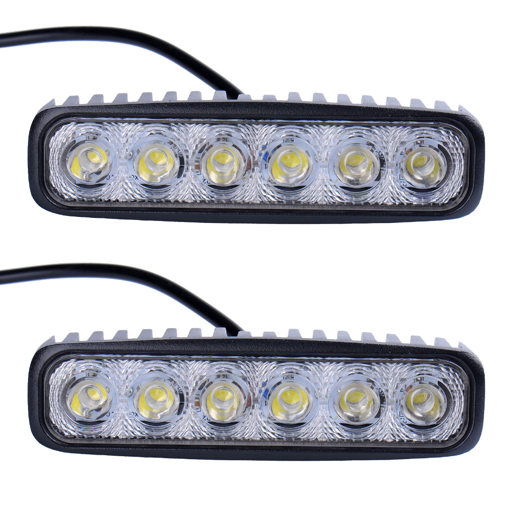2pcs LED Work Light Bar 18W For Motorcycle Car Truck Boat Tractor Working Light Off Road Work Lamp Motorbike Driving LED Lights 19inch 40w 6500k ip67 4000lm car led high power working light headlights for truck outdoor work lamp