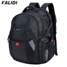 KALIDI 17 – 18 inch Waterproof Men Backpack USB Charging Larger Travel  School Bags 17.3 Inch Laptop Backpack For Mackbook Pro
