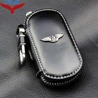 Men Women S Car Keys Bag Keys Chains Case Holder Cowhide Leather Key Wallet For Bentley