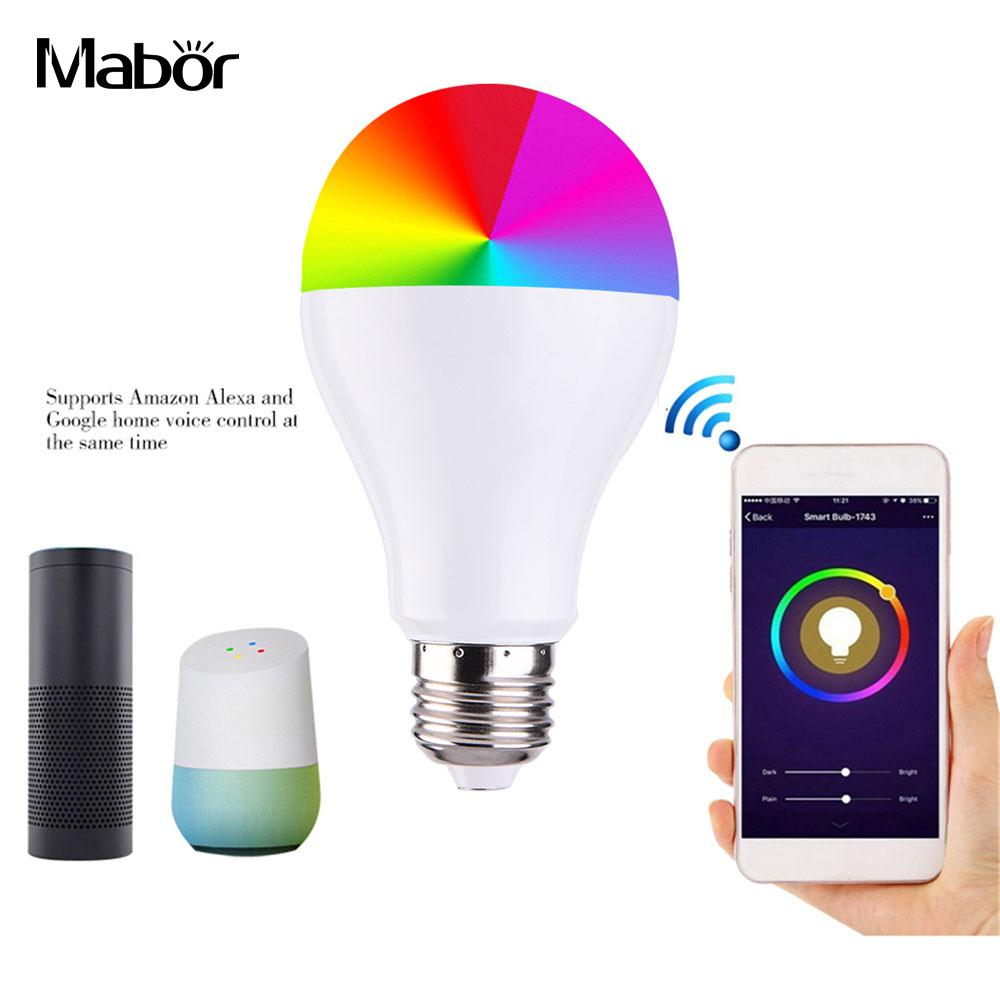 Wi-fi Smart Lampe Licht Langlebig Schlafzimmer Led-lampe Super Helle Party Dorpshipping Harmonische Farben