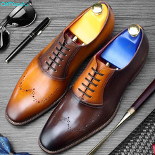 QYFCIOUFU New 2019 Summer Mens Oxfords Shoes Genuine Leather Wedding Office Business Footwear Mans Dress Shoe Suits Formal